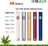 2.6-4.0w ss lights - Ecigs mAh L0 Preheat Battery Black SS Colors Operated LED Lighting Portable Battery CBD Cartomizer Used for the Thick Oil