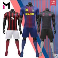 Wholesale Cheap Uniform Set Soccer - customized Blank Soccer Jersey Shirts Football Jerseys Tops With Shorts Sets Uniform,discount Cheap 2017 Men's Training Soccer Jersey+socks