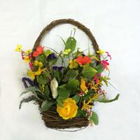 "Wholesale Natural Baskets Wholesale - Alldeco 18"" natural material Easter Basket Flower Wreath"
