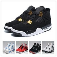 Cheap Air retro 4 IV Men Women Basketball sapatos Black Gold White ROYALT Retro 4s Sneakers Womens Athletics Cheap Shoes Men Boot