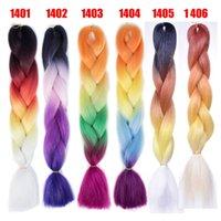 pelo púrpura de xpression al por mayor-Trenzas jumbo Xpression Brading Hair colores morados trenzas de ganchillo tres tonos de color sintético Extensiones de cabello marley para mujeres negras