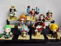 Wholesale Nami New World - 9Pcs Lot Anime Figure One Piece The New World Luffy Roronoa Zoro Sanji Chopper Nami Boa Hancock PVC Action Figures