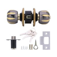 Barato Bloqueio Da Alça Da Porta De Aço Inoxidável-Preço mais baixo Início HF-Q-28 Aço Inoxidável Escovado rodada bola Privacy Door Knob Set Handle Lock Door Knob Lock 60 # para Door Bedroom