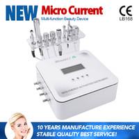 microdermoabrasão galvânica venda por atacado-2017 Novo 6 Em 1 Mesoterapia Máquina Com Microdermoabrasão Refrigeração De Oxigênio Galvânica RF Sem Agulha Mesoterapia