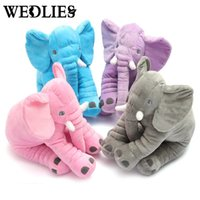 Wholesale Calming Baby Toys - Wholesale- Soft Appease Elephant Playmate Calm Doll Baby Toys Elephant Pillow Plush Toys Stuffed Doll Girl Friend Gift