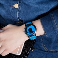 Wholesale Cool Watch Bands Women - Brand New luxury fashion Novel cool Watch women and men casual watches leather band Quartz Wristwatch wholesale