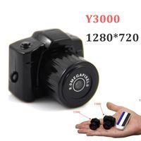 hd başparmak toptan satış-Toptan-Yeni Y3000 Mini Kamera DV HD 720 P Mini Başparmak Kamera Kameralar Siyah