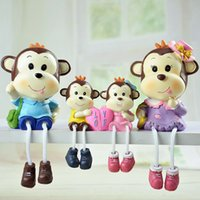 Wholesale Love Doll Foot - Resin Crafts Bubble Safety Packaging Love Monkey Shelf Ornaments Hanging Foot Doll 4pcs set