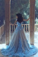 Wholesale Scalloped Sweetheart Tulle Ball Gown - Elegant Ball Gown Prom Dresses Sweetheart Sleeveless With Lace Applique Beads Long Sweep Train Tulle Formal Evening Gowns 2017