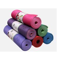 Wholesale Mat 8mm - Wholesale-8mm High Quality Anti-skid Yoga Mat 183*61CM Tasteless Recyclable TPE Esterilla Yoga Pad Suit For Beginner SE061
