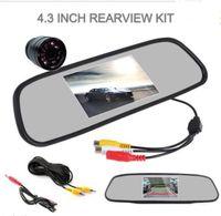 "Wholesale Car Reverse Camera Mirror - Car 4.3"" TFT LCD Reverse Rear View Mirror Monitor+28mm Night Version Backup Cam"