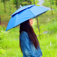 Wholesale Double Fabric Umbrellas - Umbrella Cap Double Deck Multi Function Wide Range Of Uses Hat Umbrellas Multicolor Easy To Carry 16 15yl H1 R