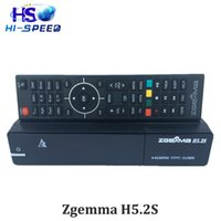 Wholesale Twin Tuner Hd Satellite Receivers - 1PC Newest Zgemma H5.2S BCM73625 Dual Core Main-chipset DVB-S2+S2 twin tuners full HD 1080p zgemma h5 2s satellite receiver