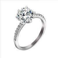 ingrosso fascino austriaco-Nuovi anelli d'argento di zircon affascinanti di retro exquirsite con il cristallo di lusso dell'Austria, 3 strati placcato platino, monili di modo Trasporto libero