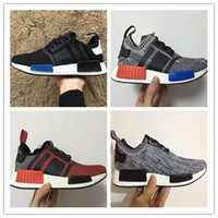 Wholesale Cheap Running Shoe Sales - 2017 Cheap Wholesale Discount NMD Runner Primeknit Sales White Red Blue NMD Runner Sports Shoes Men Woman NMD Running Boost 36-45