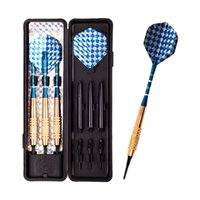Wholesale Dart Wholesale - 3 pcs set 18g high quality professional electronic darts anti-throw antiskid soft tip darts aluminum foil Mosaic dart Wing