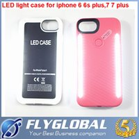 Wholesale Top Iphone Battery Case - For iPhone 6 7 plus The third generation LED Light Case Light Up Your Face Back Cover With Retail Box top quality