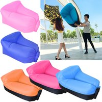 Wholesale Classic Sofa Wholesale - Inflatable Neck Pillow Lounger Air Sofa Chair Comfortable Outdoor Beach Camping Hiking Lazy Sofa Bed 19 Colors dhl OTH526
