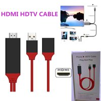 Wholesale Hdtv Iphone - Universal HDMI Adapter Cable To HDTV 3 in 1 USB cable Connector For Samsung Galaxy S8 Edge Note 5 Iphone 8 X LG G4 Ipad Air2 with retail box
