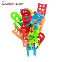 stacking office chairs - SET Family Board Game Children Educational Toy Balance Stacking Chairs Chair Stool Office Game