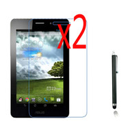 """Wholesale Asus Tablet Screen - Wholesale- 3in1 2x LCD Clear Screen Protector Films Protective Film Guards +1x Stylus For ASUS Fonepad 7 ME371 ME371MG K004 7"""" Tablet"""