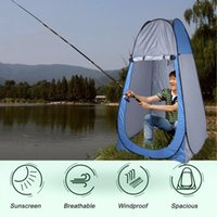 Al por mayor- (Enviar desde EE. UU.) Portable Pop Up Dressing Changing Tent Picnic Camping Beach Fishing Toilet Shower Room Carpas Bolsa de transporte