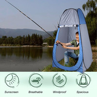 Venda Por Atacado - (Ship From US) Pop Up Pop Up Dressing Changing Tent Picnic Camping Beach Fishing Toilet Shower Room Tents Carrying Bag