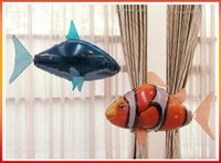 Wholesale New Air Swimmers - NEW Flying Fish Remote Control Toys Air Swimmer Inflatable Plaything Clownfish Big Shark Toy Children Gifts