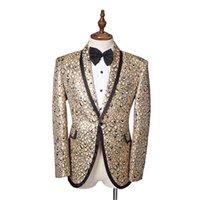 Wholesale chinese men wedding costume for sale - Group buy Hot Sale Long Sleeves Serpentine Stage Performance Prom Costumes Slim Tailor Chinese Tunic Suit Wedding Costumes
