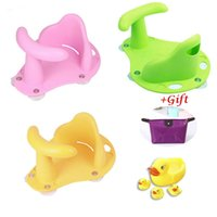 Wholesale Swimming Chairs - Hot SaleBaby Infant Child Toddler Bath Seat Ring Non Anti Slip Safety Chair 1pcs + 4pcs Swimming Water Ducks +1pcs gift Free shipping