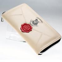 Wholesale Women Long Zipped Wallet - Harry Potter Letter Zip Around Wallet pu Long Fashion Women Wallets Designer Brand Purse Lady Party Wallet Female Card Holder