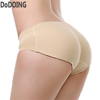 Wholesale Sexy Butt Hip Panty - Wholesale- latex waist trainer butt lifter panties Women Sexy Underwear slimming pants Fake ass Booty Padded panty Ass enhancer Up Hips