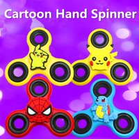 Wholesale Focus Designer - New Designer Cartoon Funny Finger Toy Plastic EDC Hand Spinner For Autism and ADHD Anxiety Stress Relief Focus Toys Gift HFA046