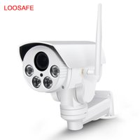 Wholesale Zoom Wifi Security Camera - loosafe HD 1080P 4X Zoom PTZ Rotation Surveillance Bullet Camera Intelligent Network Monitor Wireless Wifi Outdoor Security PTZ Camera