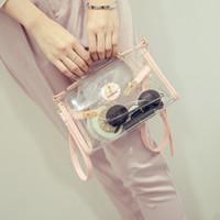 Wholesale Transparent Ladies Purse - Chic Womens Mini Clear Crossbody Shoulder Bags Transparent Handbags Tote Purses Luxury Clutch Totes Bags SPY6412