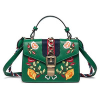 Wholesale Embroidered Candy Bags - New bags handbags women famous brands Embroidered bag fringe crossbody shoulder strap bag luxury designer leather top-handle bags