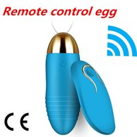Wholesale speed vibrating vagina - Waterproof 10 Speeds Wireless Vibrator For Woman Usb Rechargeable Vibrators Massager Vagina Sex Vibrating Egg Sex Toy For Women