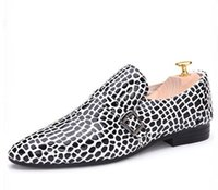 Wholesale Oxford Platform Heels - Fashion Men Nightclub shoes zapatos Hombr Bright leather platform shoes leopard printed Men Dress shoes oxfords Men's Casual leather shoe