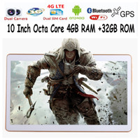 Wholesale china tablet g touch resale online - 10 inch G Phone Call SIM card Android Quad Core WiFi GPS FM Tablet pc GB GB Anroid Tablet Pc