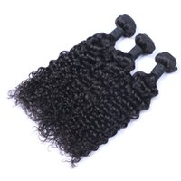 Wholesale chinese virgin hair bundles resale online - Unprocessed Indian Human Remy Virgin Hair Jerry Curly Hair Weaves Hair Extensions Natural Color g bundle Double Wefts Bundles