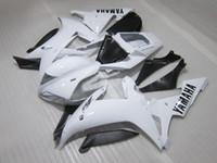 Wholesale yamaha r1 fairings white - Injection molding plastic fairing kit for Yamaha YZF R1 2002 2003 white black fairings set YZF R1 02 03 OT37