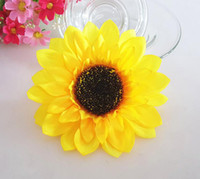 Wholesale 100pcs CM Sunflower Buds Artificial Silk Flower Heads For Wedding Home Bridal Bouquet Decoration New Style