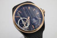 Wholesale Dlc Pvd - 2017 Luxury Brand Top Quality Wristwatch Black Dlc Pvd Tourbillon Rubber Bands Automatic Mens Watch Men's Glass back Watches