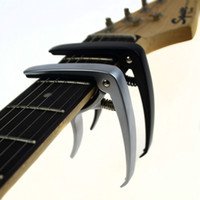 Wholesale Guitar Capo Silver - New Acoustic guitar and electric guitar capo silver and black models optional made of Aluminum