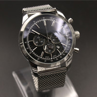 Wholesale Mm Specials - 1884 Quartz Chronograph Mens Watches sapphire mens watches Top AAA black dial Stainless Editon Special Luxury Brand watch men wristwatches