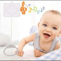 Wholesale Baby Music Pull - Wholesale- 2017 New Hot Selling Pull String Cord Music Box White Baby Bed Bell Kids Toy Random Songs 1PCS