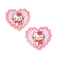 Wholesale Cabochons Kids - 30Pcs Kawaii Heart with Hairbow Kitty Cat Resin Planar Flatback Cabochons DIY Kids Girls Hair Bow Center Craft Decoden Jewelry GIFT