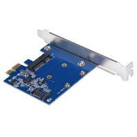 msata sata adaptörü toptan satış-Toptan Satış - PCI-E mSATA SSD + SATA3.0 Combo Genişletici Adaptörü PCI-E SATAIII Kart desteği mSATA Mini PCI-E SATA SSD