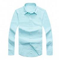 Wholesale Men S Fitted Polo Shirts - 2017 HotFall Men's Long Sleeve Shirt Cotton Shirt Men's polo Casual Solid Regular fit Men's Shirts fashion