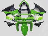 zx6r 1998 99 al por mayor-Carenados 100% nuevos para Kawasaki NINJA ZX 6R 1998 1999 ZX-6R 98-99 ZX6R 1998-1999 ZX6R 98-99 kit de carenado # d73h4 verde
